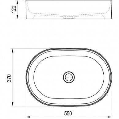 Praustuvas Ravak Ceramic Slim O  55 cm 5