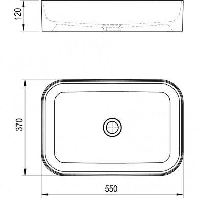 Praustuvas Ravak Ceramic Slim R 55 cm 7