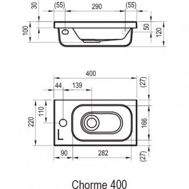 Praustuvas Ravak Chrome 40 cm 7