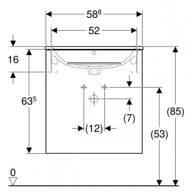 Praustuvas su pakabinama spintele Geberit Selnova Square 60 cm 2