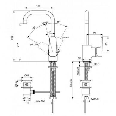 Praustuvo maišytuvas Ideal Standard Ceraplan III 2