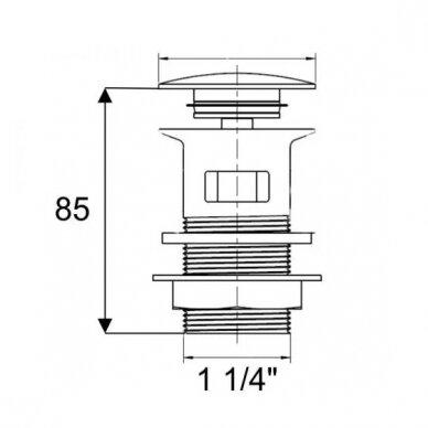 Praustuvo sifono galvutė Ideal Standard CLICK-CLACK 2