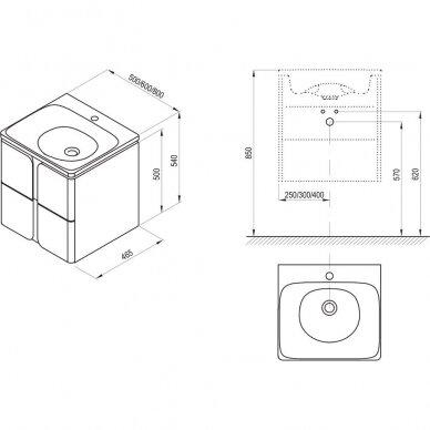 Praustuvo spintelė Ravak SD Balance 50cm 3