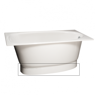 Priekinis žemas (apatinis) uždengimas voniai PAA Uno Grande