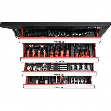 Profesionali įrankių spintelė Yato su 177 įrankiais, 6 stalčiais (YT-55300) 4