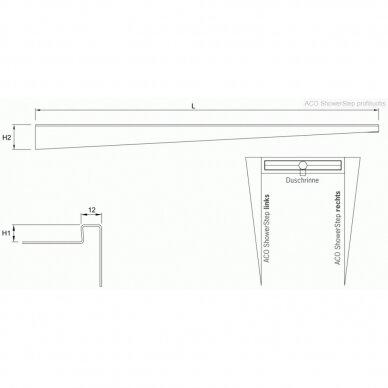 Profiliuotis Aco ShowerStep 99, 149 cm 7