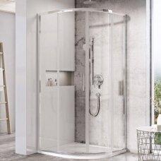 Pusapvalė dušo kabina Ravak Blix Slim BLSCP4 90 cm ir Termo 300