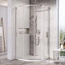 Pusapvalė dušo kabina Ravak Blix Slim BLSCP4 80, 90 cm