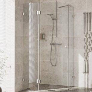 Pusapvalė dušo kabina Griubner FR-K3 80, 90, 100 cm