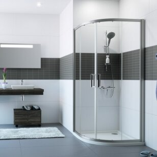 Pusapvalė dušo kabina Huppe Classic 2 80, 90, 100 cm
