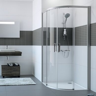 Pusapvalė dušo kabina Huppe Classic 2 EasyEntry 90 cm