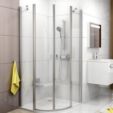 Pusapvalė dušo kabina Ravak Chrome CSKK4 80, 90 cm