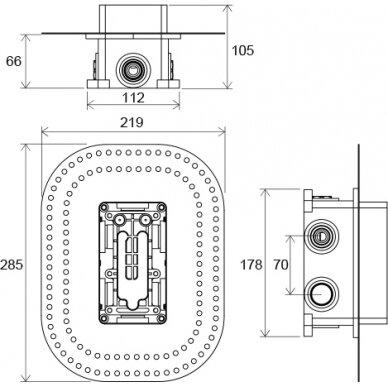 Įmontuojamas maišytuvų mechanizmas Ravak R-box Multi 5