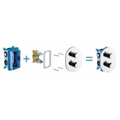 Įmontuojamas maišytuvų mechanizmas Ravak R-box Multi 2