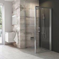 Dušo kabinos komplektas Ravak 80, 90 cm: durys Blix BLDZ2 + stacionari sienelė BLPSZ