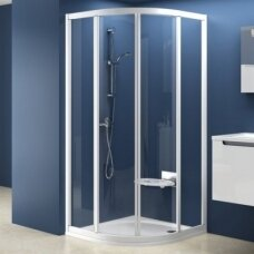 Ravak dušo komplektas: kabina SKCP4-80 + padėklas + sifonas