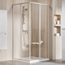 Ravak dušo komplektas: kabina SRV2-75S+ SRV2-90S + padėklas + sifonas