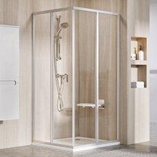 Ravak dušo komplektas: kabina SRV2-90S+ SRV2-90S + padėklas + sifonas