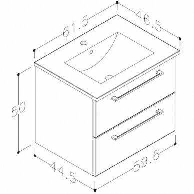 Vonios baldų komplektas Allegro 60 7
