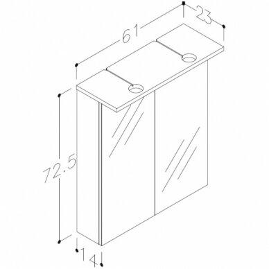 Vonios baldų komplektas Allegro 60 6