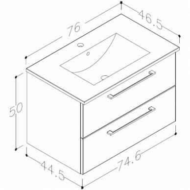Vonios baldų komplektas Allegro 75 7