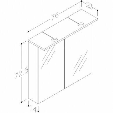 Vonios baldų komplektas Allegro 75 6