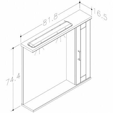 Vonios baldų komplektas Eternal 85 3 dalių 10