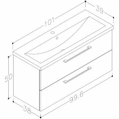 Vonios baldų komplektas Scandic 100 4