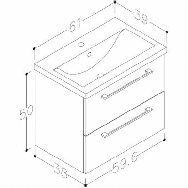 Vonios baldų komplektas Scandic 60 8