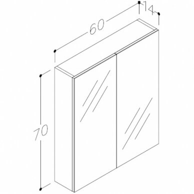 Vonios baldų komplektas Scandic 60 6