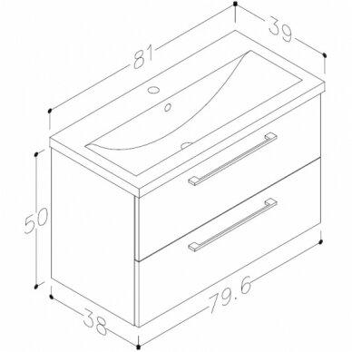 Vonios baldų komplektas Scandic 80 5