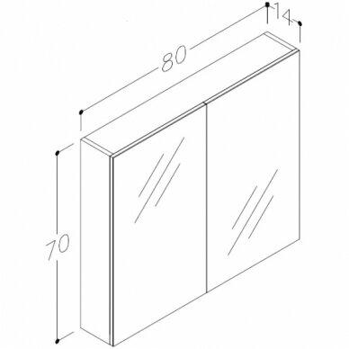 Vonios baldų komplektas Scandic 80 4