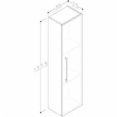 Vonios baldų komplektas Scandic 80 3
