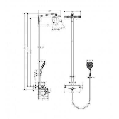Vonios, dušo komplektas Hansgrohe Raindance select 360 2