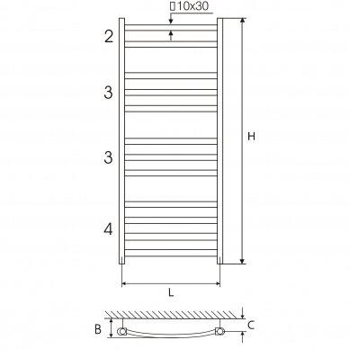 Rankšluosčių džiovintuvas Elonika EP KL 117,5 cm 3