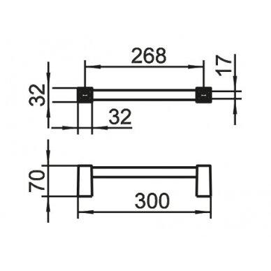 Rankšluosčių laikiklis 30 cm KEUCO SMART.2 3