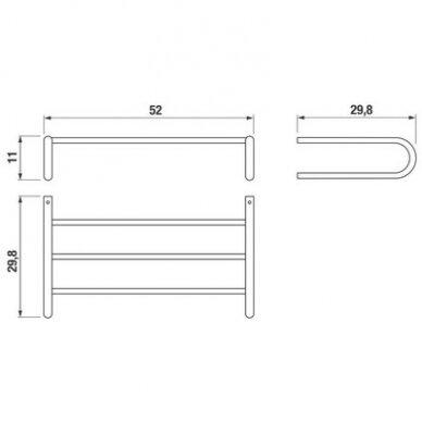 Rankšluosčių lentynėlė Jika Pure su kabykla, 50x30 cm., chromas 2