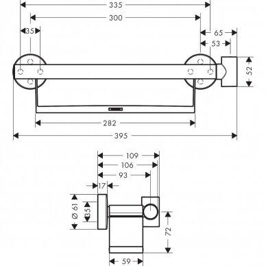 Ranktūris su lentynėle ir dušo laikikliu Hansgrohe Unica Comfort 4