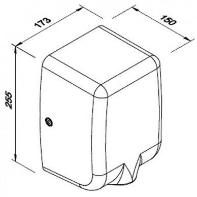 Rankų džiovintuvas Faneco PASSAT V 1350 W, satinas 3