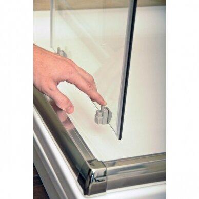 Komplektas: dušo kabina Ravak Blix BLCP4-90 + padėklas + sifonas 5