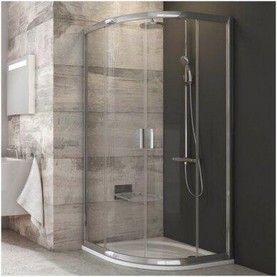 Komplektas: dušo kabina Ravak Blix BLCP4-90 + padėklas + sifonas