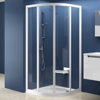 Komplektas: dušo kabina Ravak SKCP4 80, 90 cm su padėklu ir sifonu 2