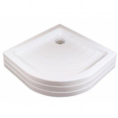 Komplektas: dušo kabina Ravak SKCP4 80, 90 cm + padėklas + sifonas 7