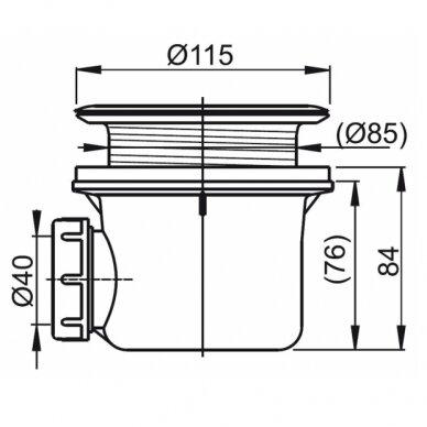 Ravak dušo komplektas: kabina SRV2-75S+ SRV2-90S + padėklas + sifonas 10