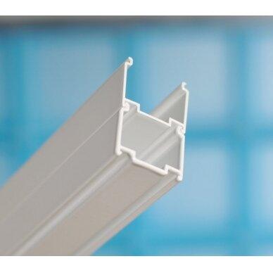 Dušo kabina Ravak: durys ASDP3-80/90 + stacionari sienelė APSS-80/90 4