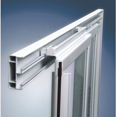Dušo kabina Ravak: durys ASDP3-80/90 + stacionari sienelė APSS-80/90 5