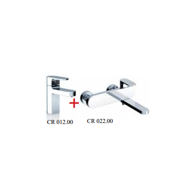 Vandens maišytuvų komplektas Ravak Chrome CR 2 in 1