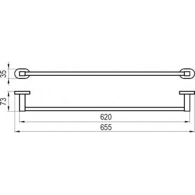 Rankšluosčio pakaba Ravak 66 cm 2