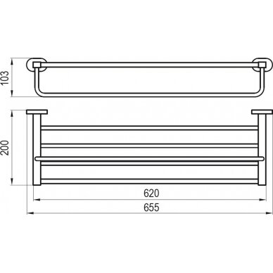 Ravak rankšluosčių lentynėlė, 66 cm 2