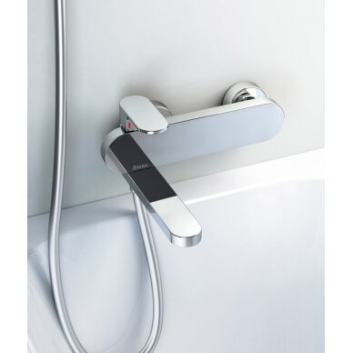 Ravak sieninis vonios/dušo maišytuvas Chrome 150 mm (kairinis) 5